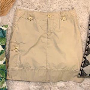 Eddie Bauer Tan Cargo Skirt